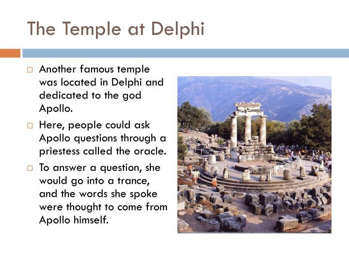 The Temple at Delphi