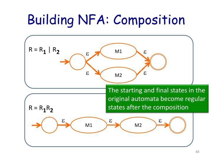 Building NFA: Composition