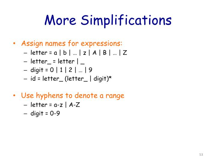 More Simplifications