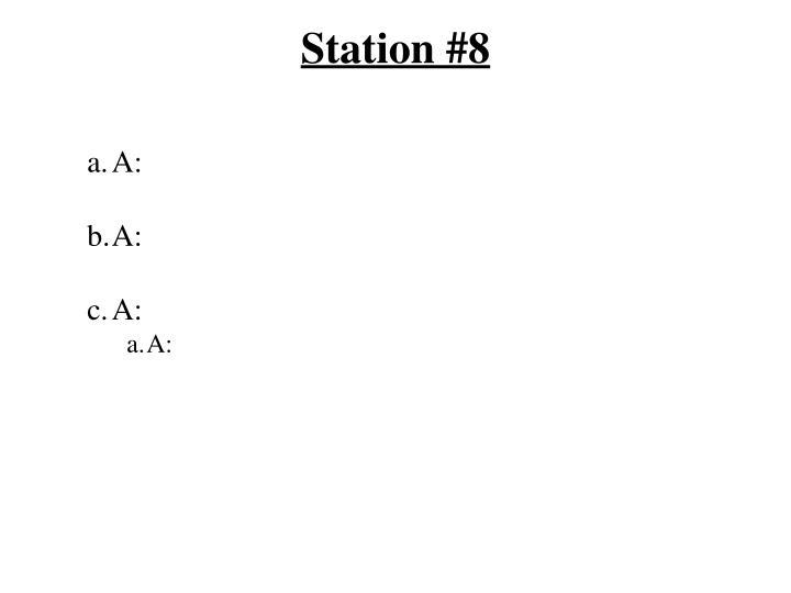 Station #8