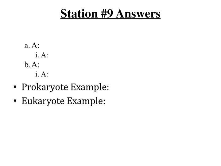 Station #9 Answers