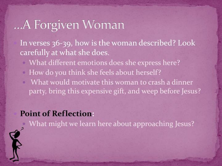 A forgiven woman