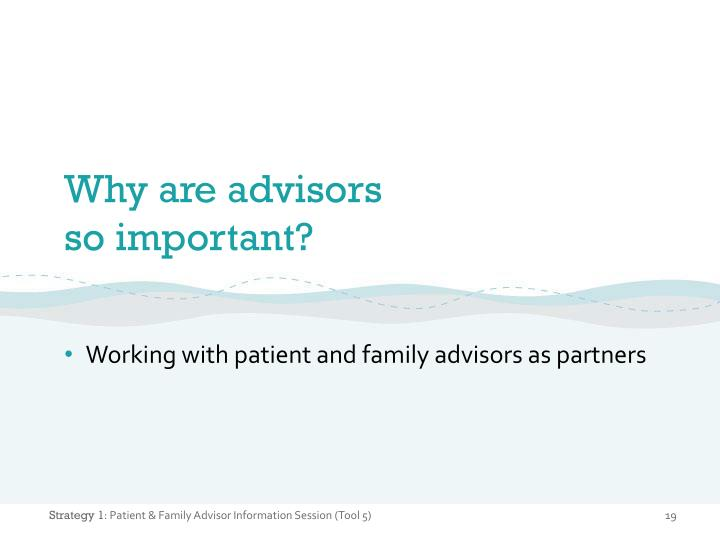 Why are advisors