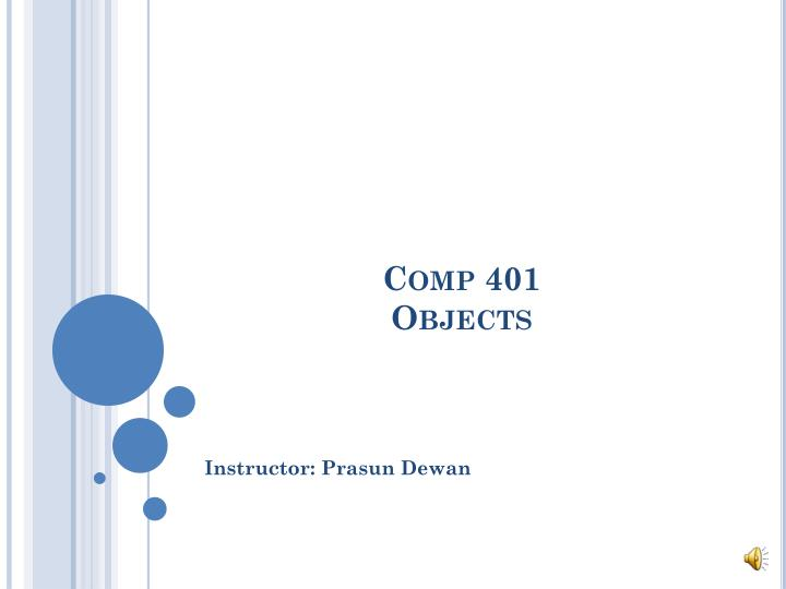 comp 401 objects n.