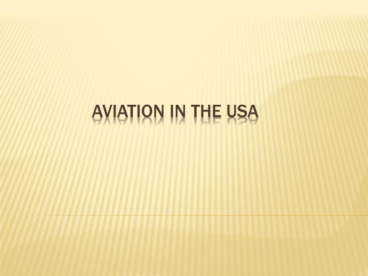 aviation in the usa n.