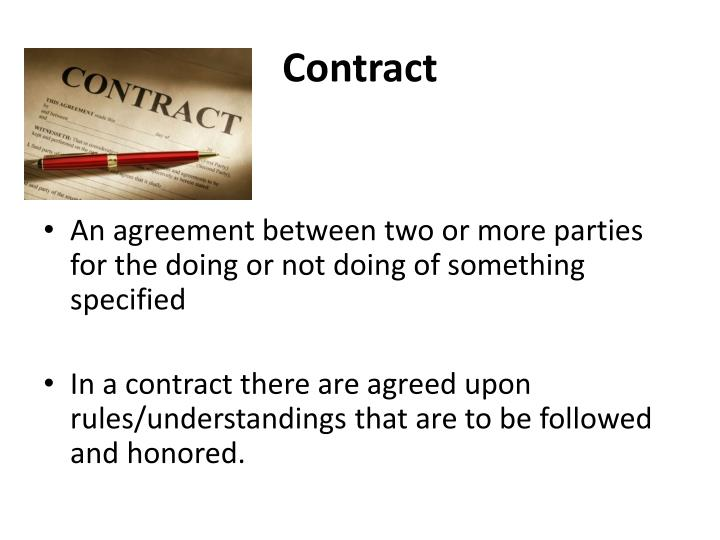 contract n.