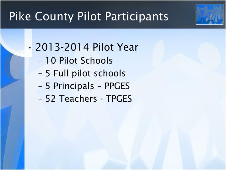Pike County Pilot Participants