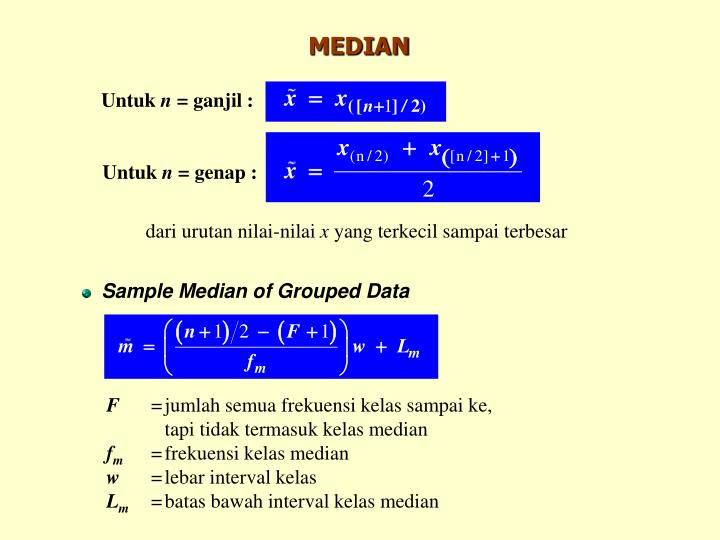 Sample Median of Grouped Data