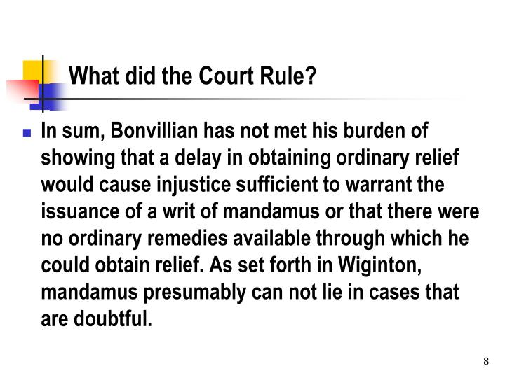 What did the Court Rule?