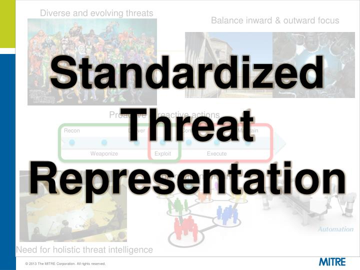 Diverse and evolving threats