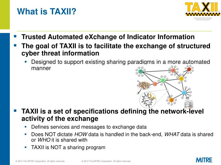 What is TAXII?