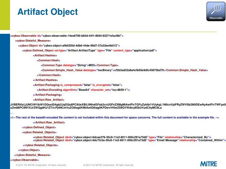 Artifact Object