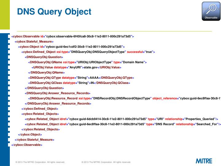 DNS Query Object