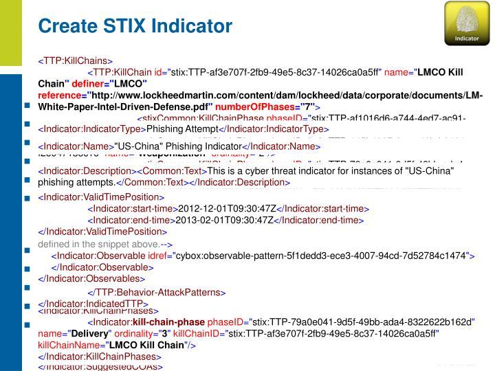Create STIX Indicator