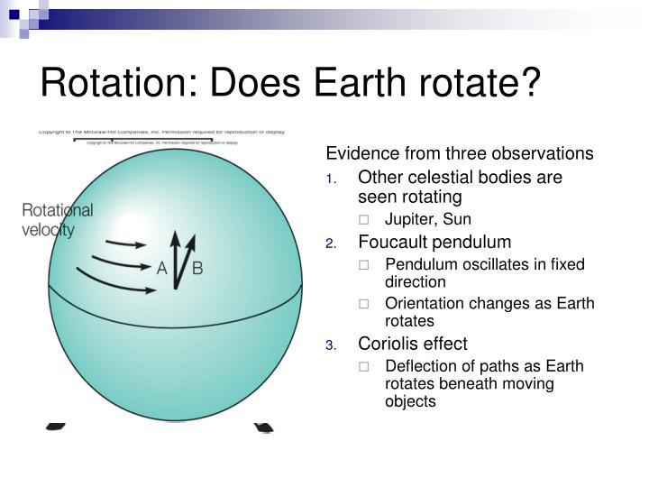 Rotation: Does Earth rotate?