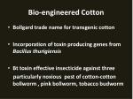 bio engineered cotton