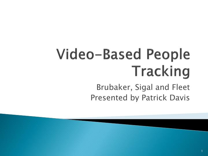 video based people tracking n.