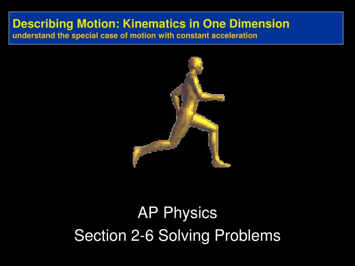 one dimensional kinematics problems pdf