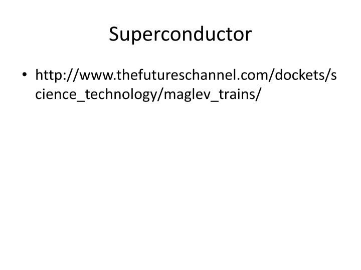 Superconductor