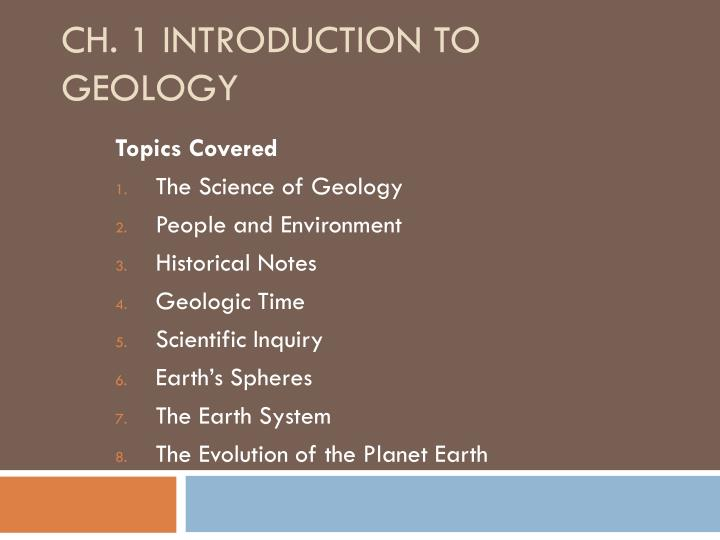 ch 1 introduction to geology n.