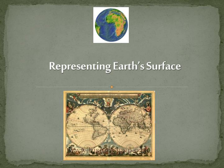 representing earth s surface n.