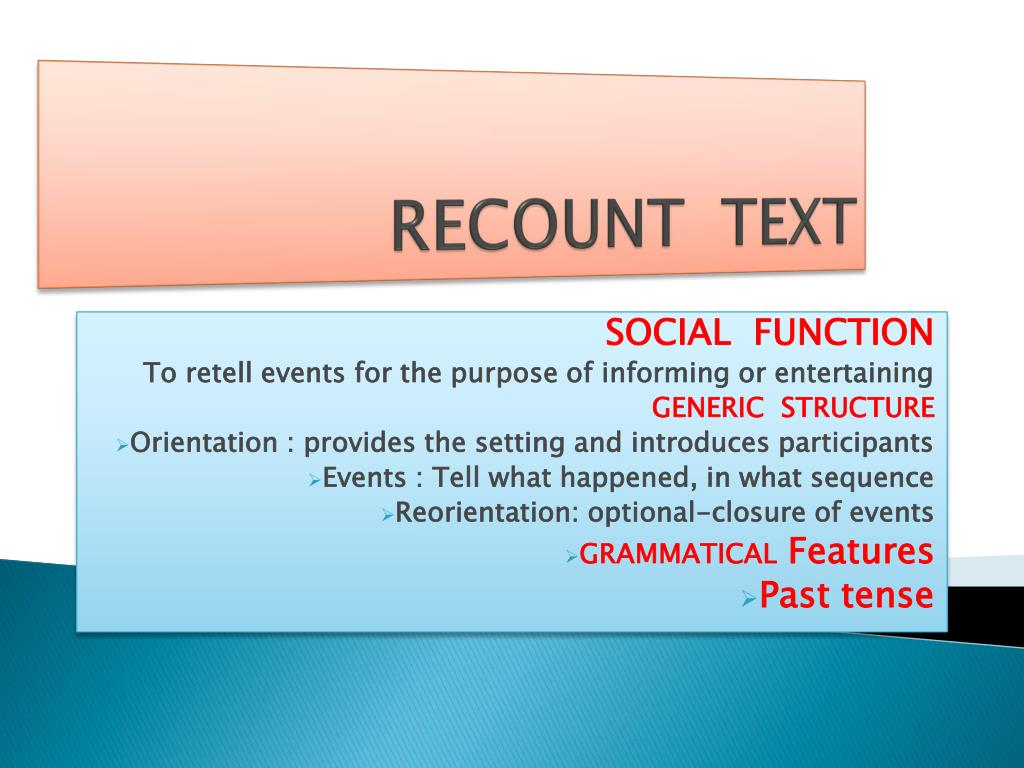 Ppt Recount Text Powerpoint Presentation Id 2431242