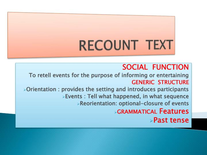 recount text n.