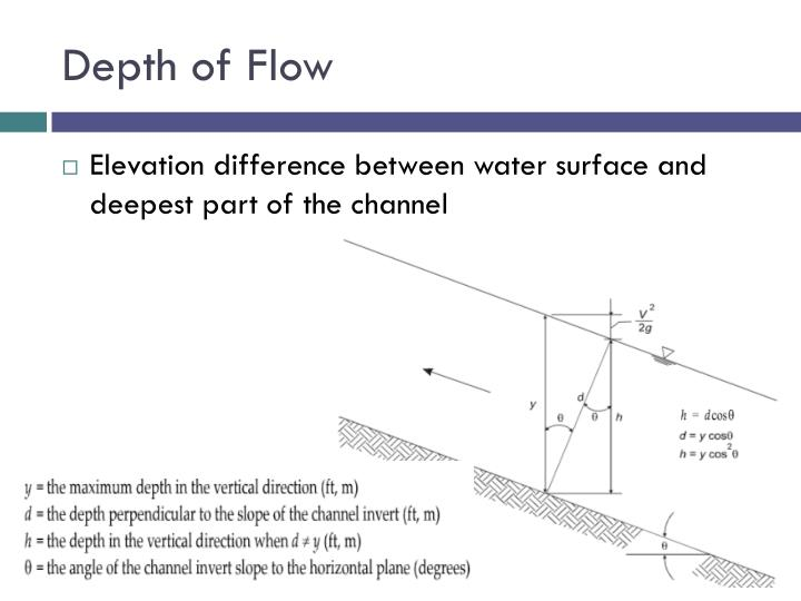 Depth of Flow