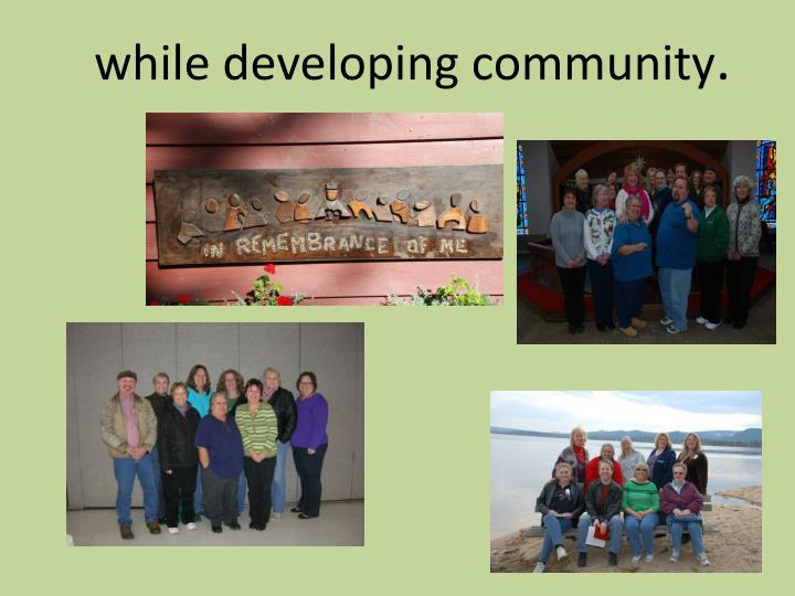 while developing community