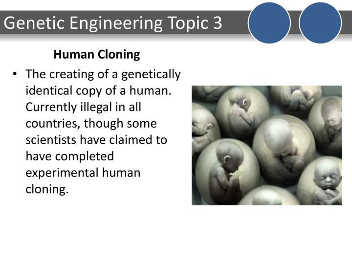 taking a look at human cloning Human cloning is one of the few subject matters that have caused great controversy all around the world once considered as a significant development in the scientific branch of biology, it has become a thing that brought about criticism and anger from various groups of people, with the number of those who oppose it ever increasing.