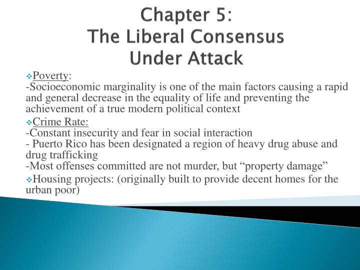 chapter 5 the liberal consensus under attack n.