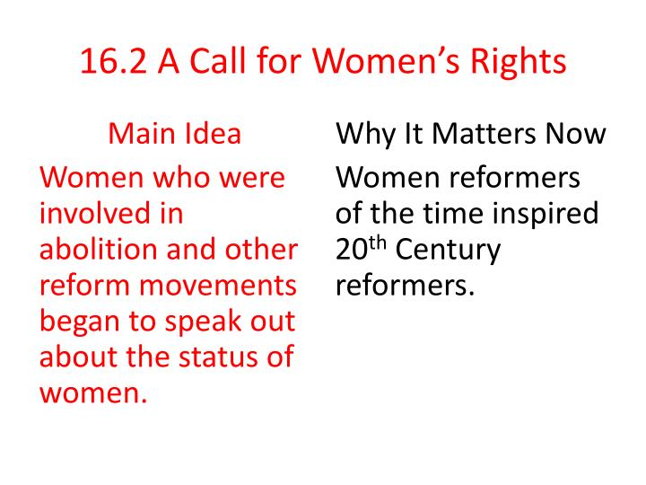 16 2 a call for women s rights n.