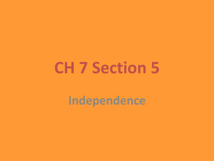 ch 7 section 5 n.