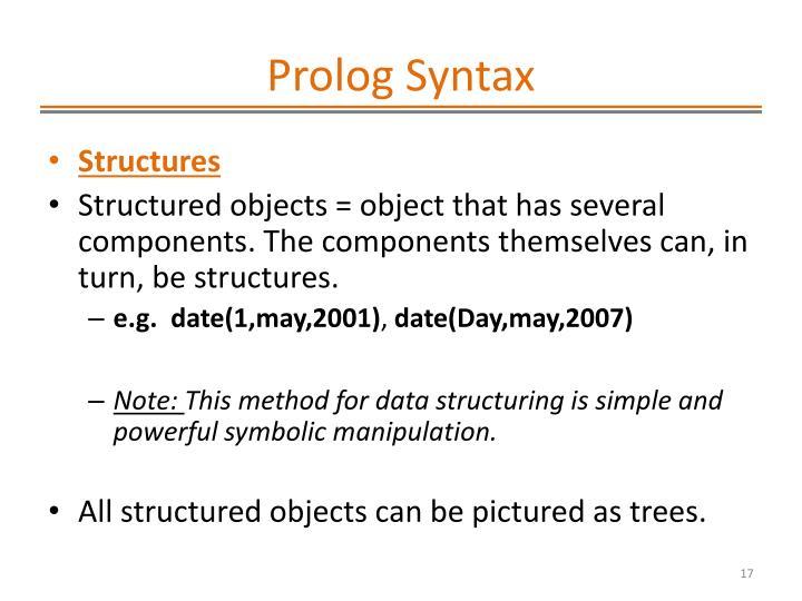 Prolog Syntax