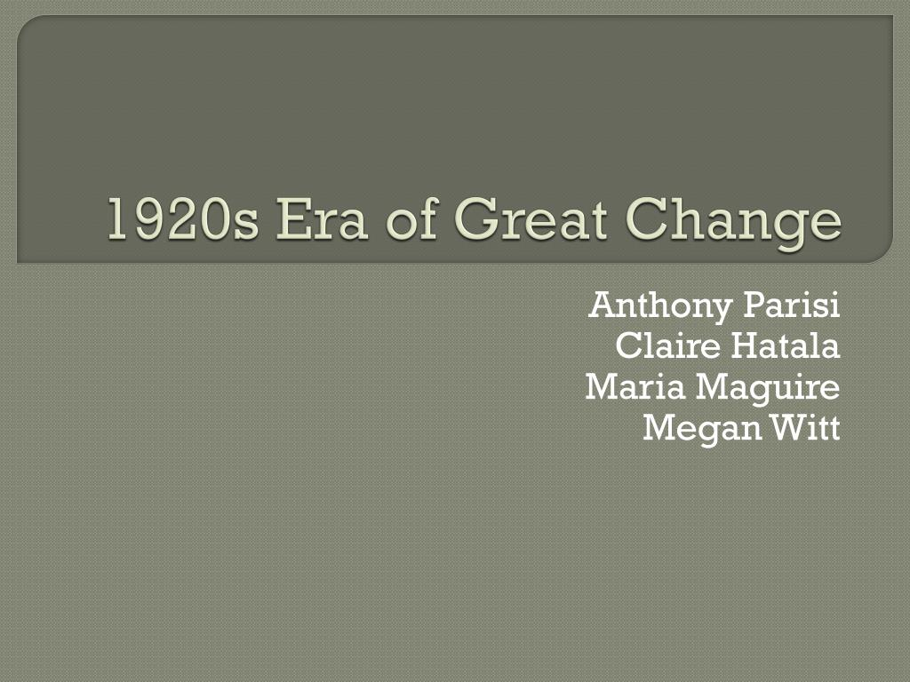 ppt 1920s era of great change powerpoint presentation id 2431708