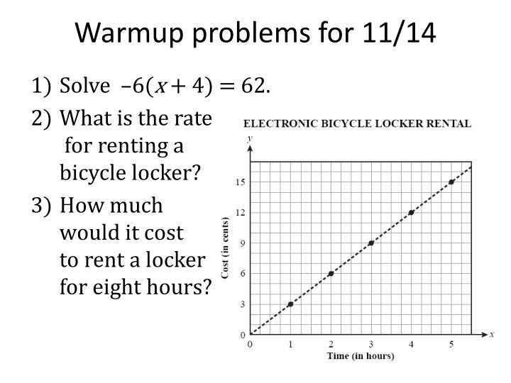 warmup problems for 11 14 n.