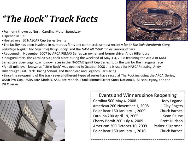 """""""The Rock"""" Track Facts"""