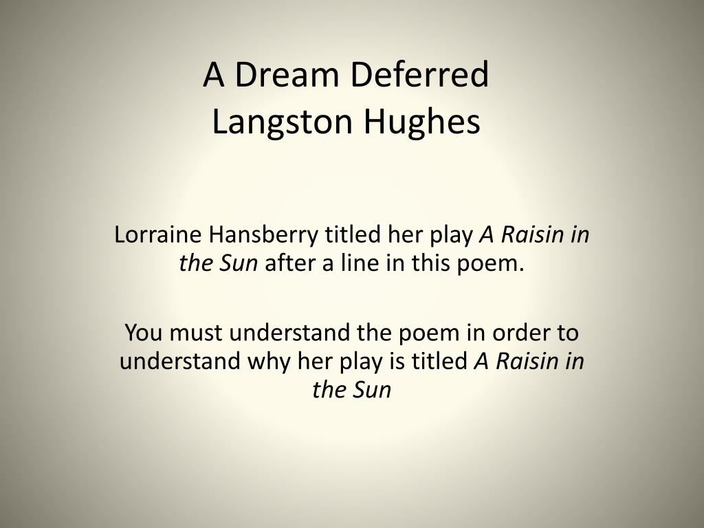 figurative language in dreams by langston hughes