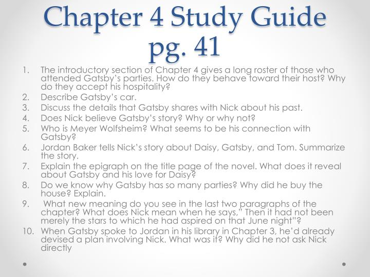Chapter 4 Study Guide