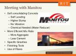 meeting with manitou