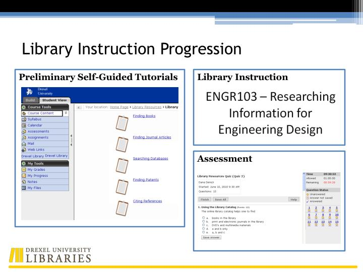 Library Instruction Progression