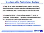 monitoring the assimilation system