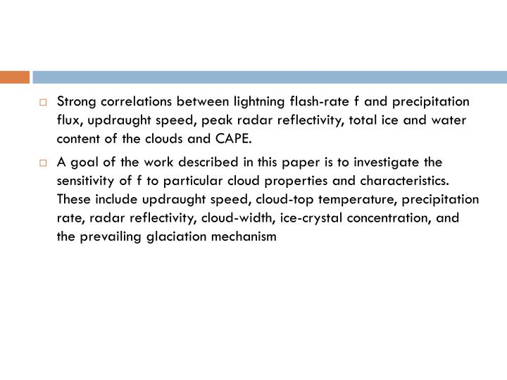 Strong correlations between lightning flash-rate f and precipitation flux,