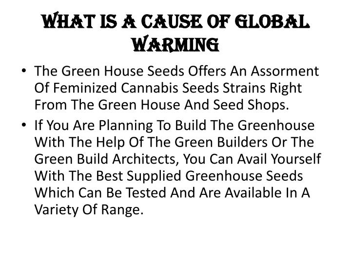 What is a cause of global warming