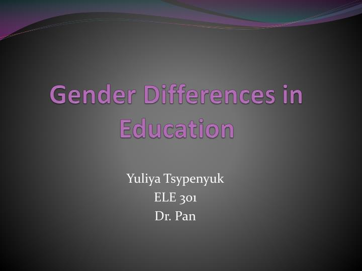 gender differences in education n.