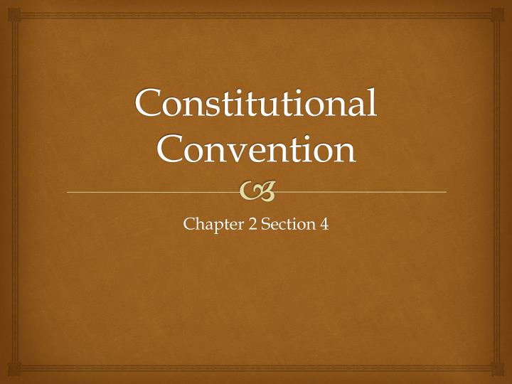 constitutional convention n.
