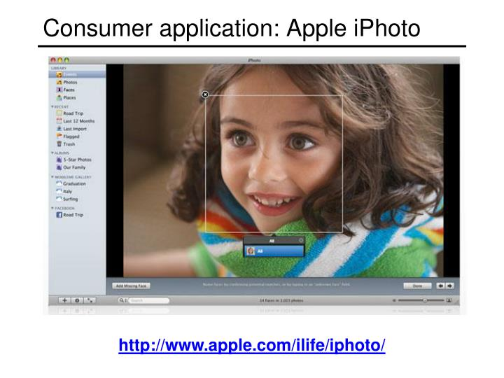 Consumer application apple iphoto