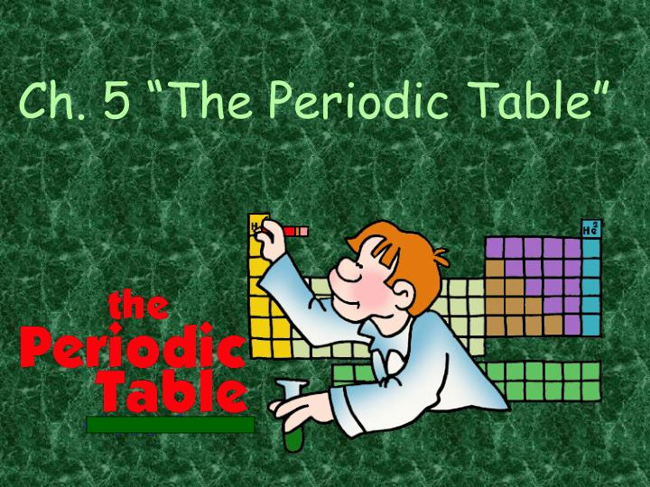 ch 5 the periodic table n.