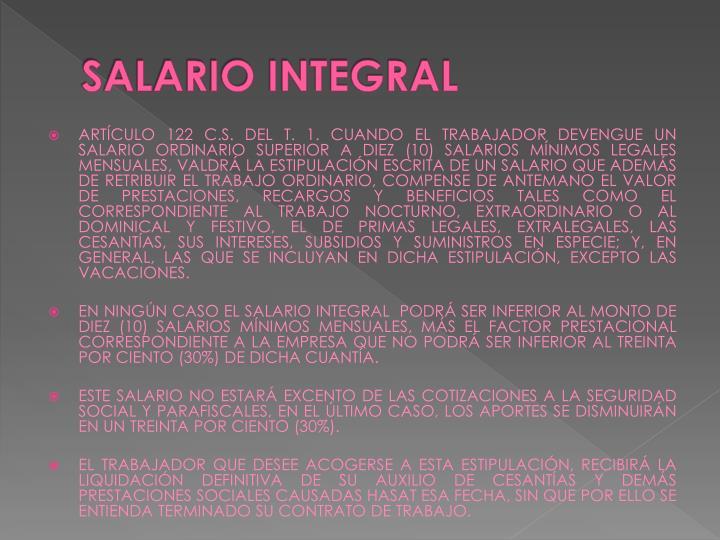 SALARIO INTEGRAL