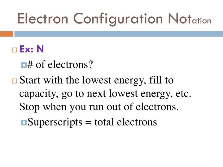 Electron Configuration Not